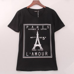 Paris T-shirt svart