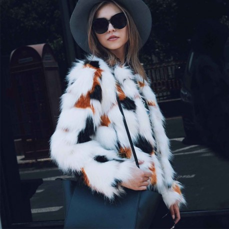 Faux Fur Coat Pälsjacka