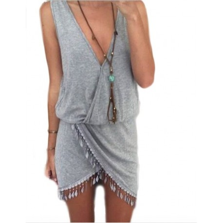Omlott Tassel Dress